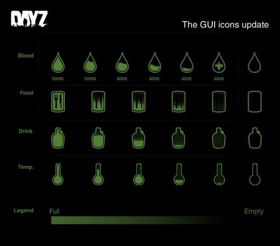 Новые иконки которые, если все пойдет гладко, появятся в патче DayZ 1.7.5.